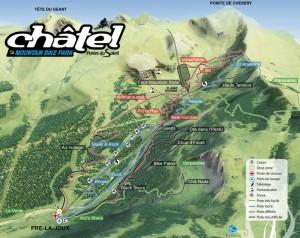 Bike Park Chatel plan 2012